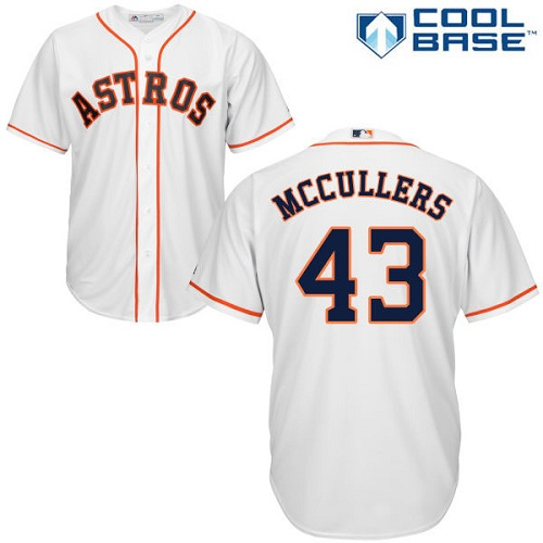 Astros #43 Lance McCullers White Cool Base Stitched Youth MLB Jersey