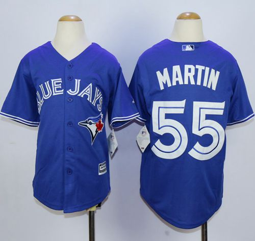 Blue Jays #55 Russell Martin Blue Cool Base Stitched Youth MLB Jersey