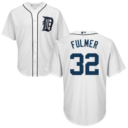 Tigers #32 Michael Fulmer White Cool Base Stitched Youth MLB Jersey