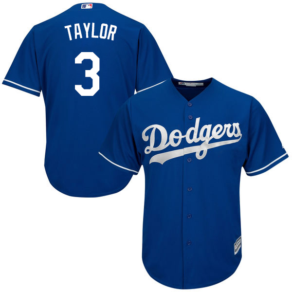 Dodgers #3 Chris Taylor Blue Cool Base Stitched Youth MLB Jersey