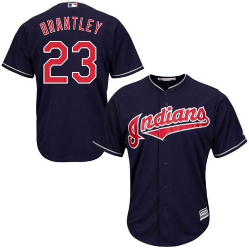 Indians #23 Michael Brantley Navy Blue Alternate Stitched Youth MLB Jersey
