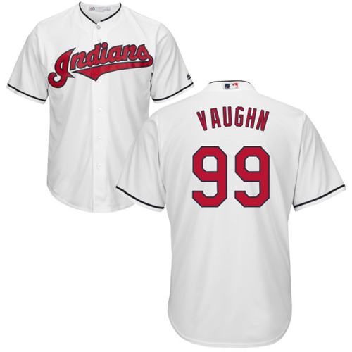 Indians #99 Ricky Vaughn White Home Stitched Youth MLB Jersey
