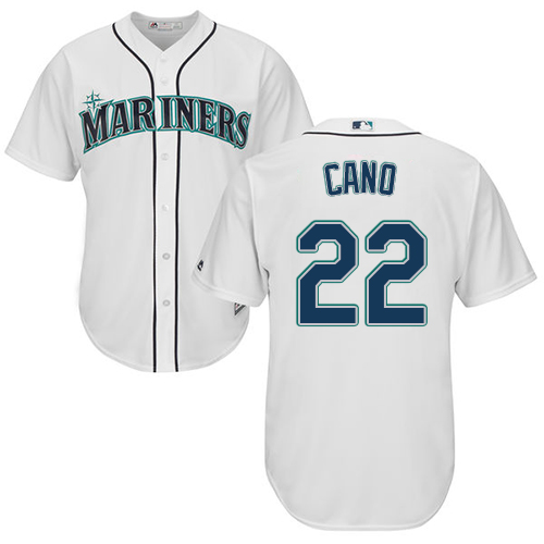 Mariners #22 Robinson Cano White Cool Base Stitched Youth MLB Jersey