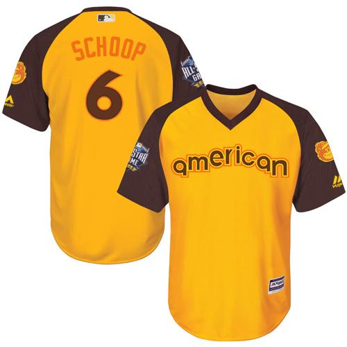 Orioles #6 Jonathan Schoop Gold 2016 All-Star American League Stitched Youth MLB Jersey