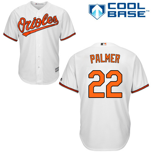 Orioles #22 Jim Palmer White Cool Base Stitched Youth MLB Jersey