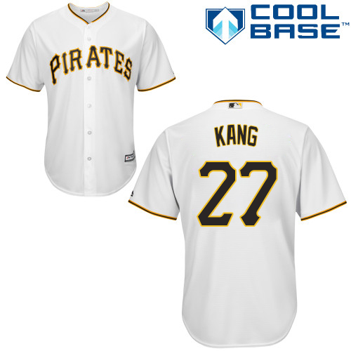 Pirates #27 Jung-ho Kang White Cool Base Stitched Youth MLB Jersey