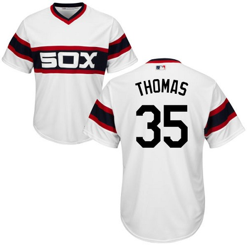 White Sox #35 Frank Thomas White Alternate Home Cool Base Stitched Youth MLB Jersey