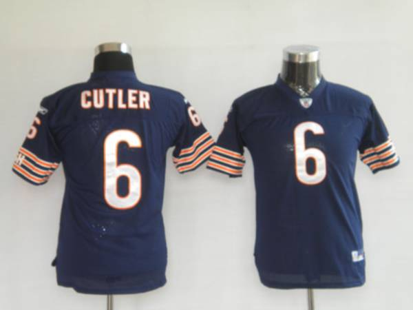 Bears #6 Jay Cutler Blue Stitched Youth NFL Jersey