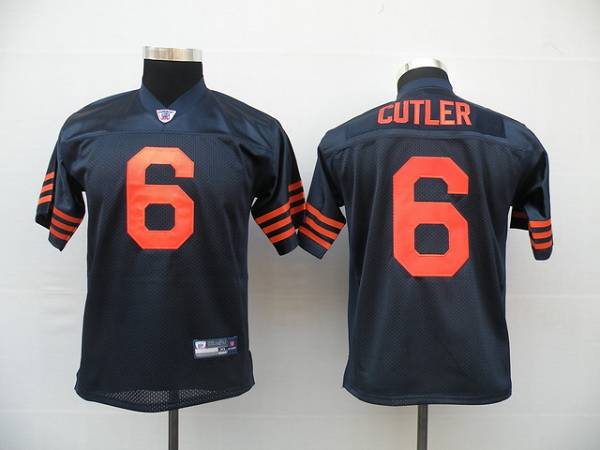 Bears #6 Jay Cutler Blue/Orange 1940s Throwback Stitched Youth NFL Jersey
