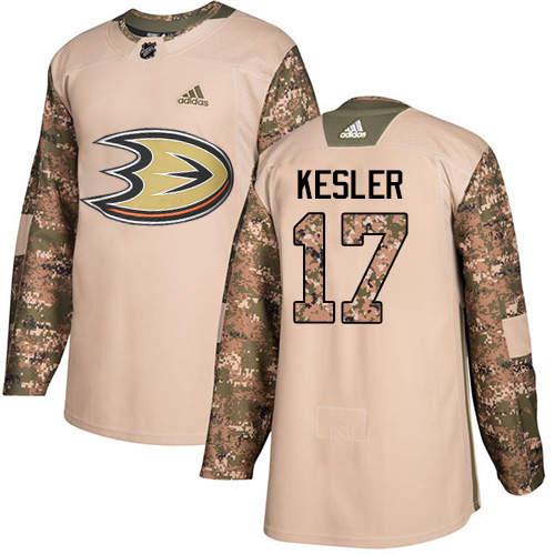 Adidas Ducks #17 Ryan Kesler Camo Authentic Veterans Day Youth Stitched NHL Jersey