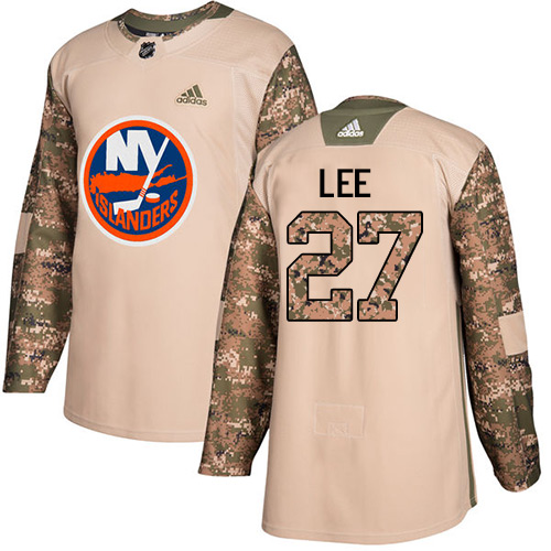 Adidas Islanders #27 Anders Lee Camo Authentic Veterans Day Stitched Youth NHL Jersey