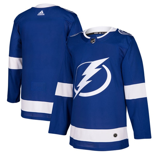 Adidas Lightning Blank Blue Home Authentic Stitched Youth NHL Jersey