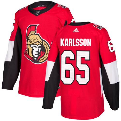 Adidas Senators #65 Erik Karlsson Red Home Authentic Stitched Youth NHL Jersey