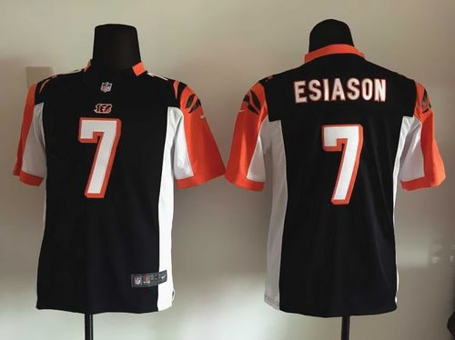 Nike Bengals #7 Boomer Esiason Black Team Color Youth Stitched NFL Elite Jersey
