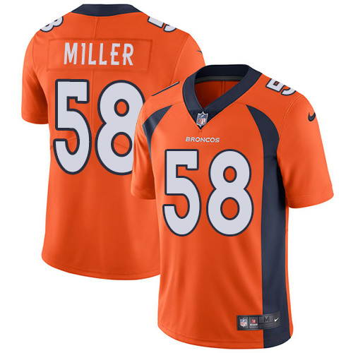 Nike Broncos #58 Von Miller Orange Team Color Youth Stitched NFL Vapor Untouchable Limited Jersey