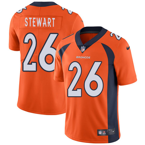 Nike Broncos #26 Darian Stewart Orange Team Color Youth Stitched NFL Vapor Untouchable Limited Jersey
