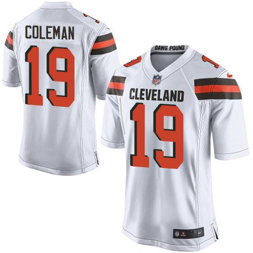 Nike Browns #19 Corey Coleman White Youth Stitched NFL New Elite Jersey