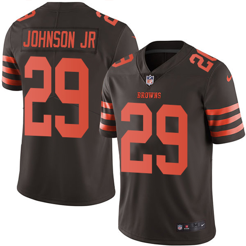 Nike Browns #29 Duke Johnson Jr Brown Youth Stitched NFL Limited Rush Jersey