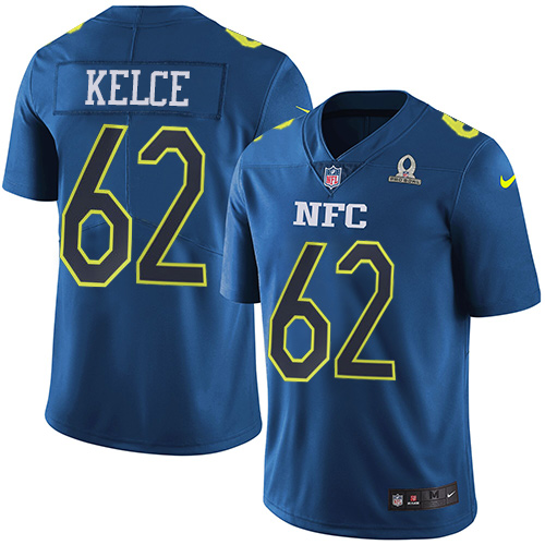 Nike Eagles #62 Jason Kelce Navy Youth Stitched NFL Limited NFC Pro Bowl Jersey