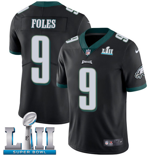 Nike Eagles #9 Nick Foles Black Alternate Super Bowl LII Youth Stitched NFL Vapor Untouchable Limited Jersey