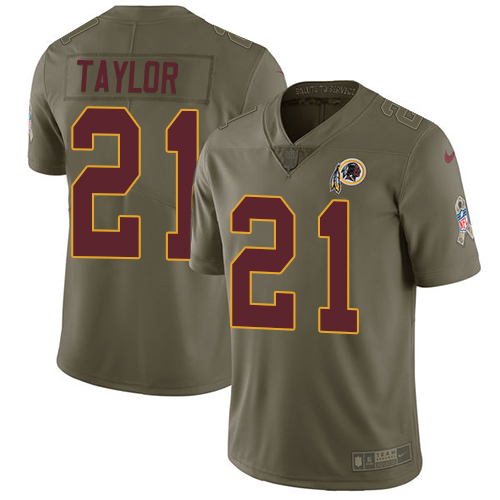 Nike Redskins #21 Sean Taylor Olive Youth Stitched NFL Limited Salute to Service Jersey