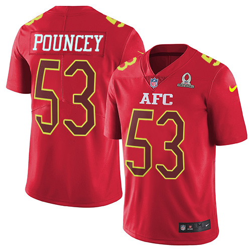 Nike Steelers #53 Maurkice Pouncey Red Youth Stitched NFL Limited AFC Pro Bowl Jersey