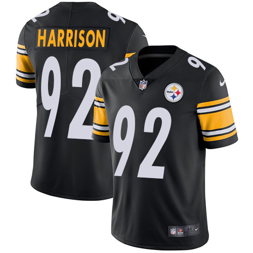Nike Steelers #92 James Harrison Black Team Color Youth Stitched NFL Vapor Untouchable Limited Jersey