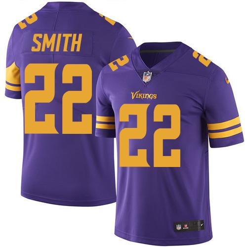 Nike Vikings #22 Harrison Smith Purple Youth Stitched NFL Limited Rush Jersey