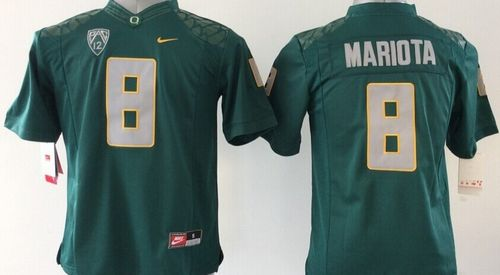 Ducks #8 Marcus Mariota Dark Green Stitched Youth NCAA Jersey