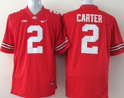 Buckeyes #2 Cris Carter Red Stitched Youth NCAA Jersey