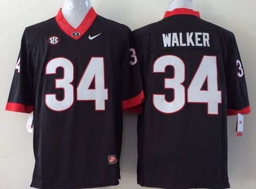 Bulldogs #34 Herschel Walker Black Stitched Youth NCAA Jersey