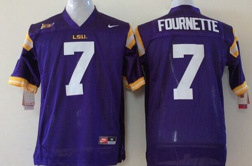 Tigers #7 Leonard Fournette Purple Stitched Youth NCAA Jersey