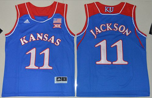 Jayhawks #11 Josh Jackson Royal Blue Basketball Stitched Youth NCAA Jersey