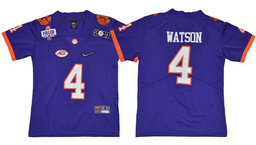 Tigers #4 Deshaun Watson Purple Diamond Quest Limited Stitched Youth NCAA Jersey